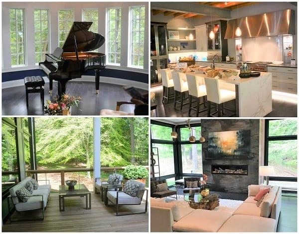 various rooms from Philadelphia Xfinity house tour