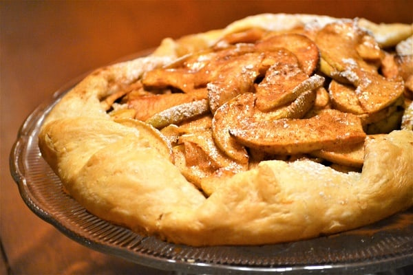 Rustic Cinnamon Apple Tart - Jersey Girl Cooks