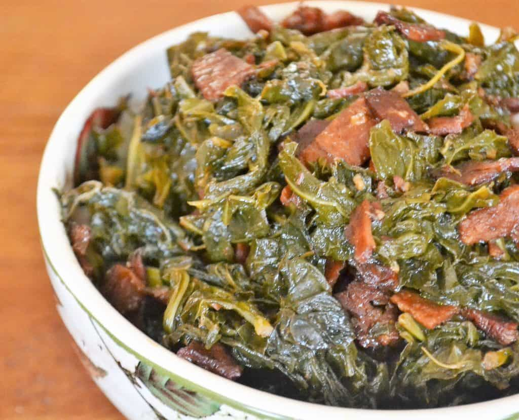 how to make collard greens with kale and turkey