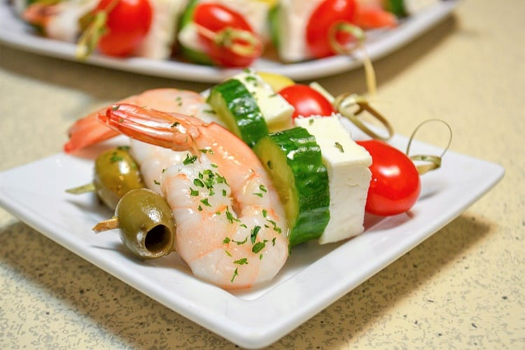 Greek Shrimp Skewer appetizer