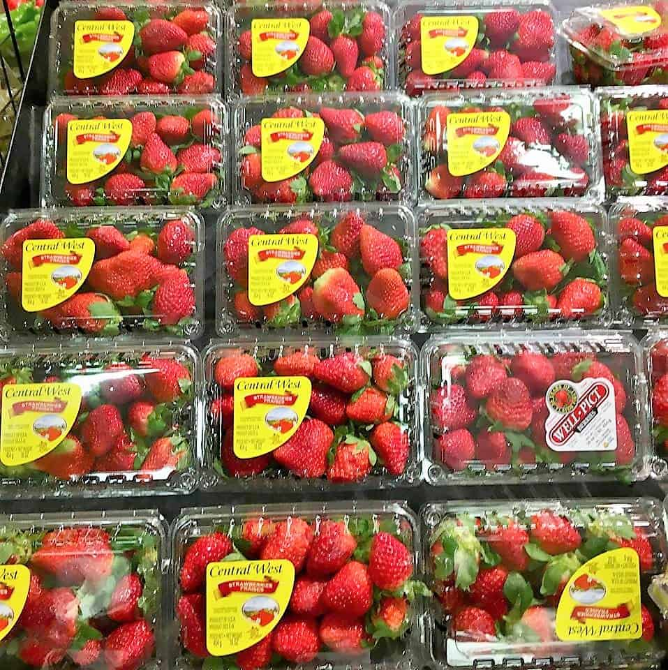 cartons of straberries