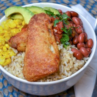 Fish taco bowls are a super easy dinner.