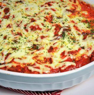 low carb eggplant parmesan casserole