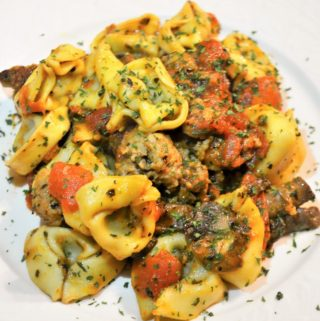 cheese tortellini with sausage