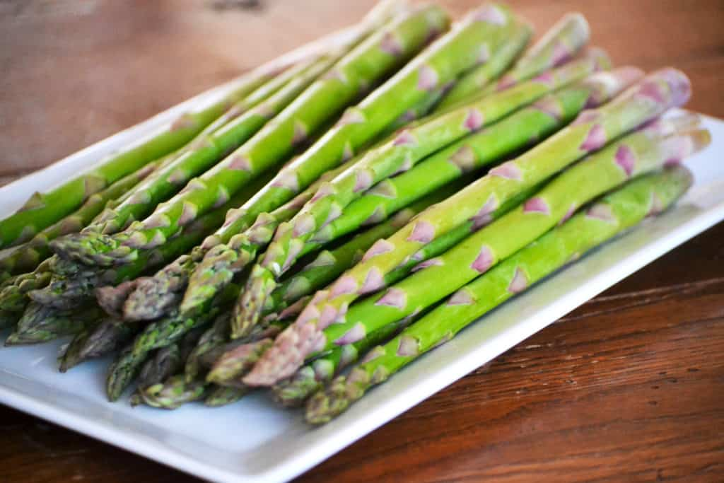 Fresh asparagus before roasting