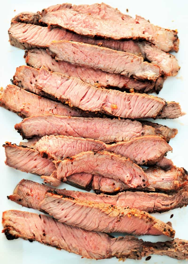 perfect grilled slices of steak
