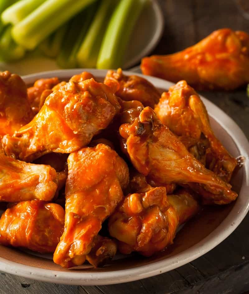 A plate of Chicken wings are perfect for game day.