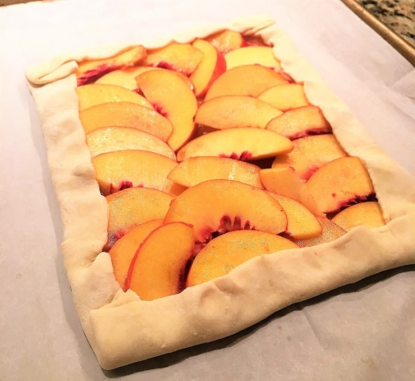 nectarine tart before going into the oven