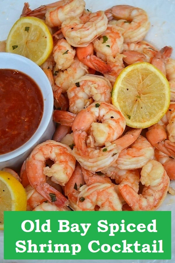Old Bay Spiced Shrimp cocktail