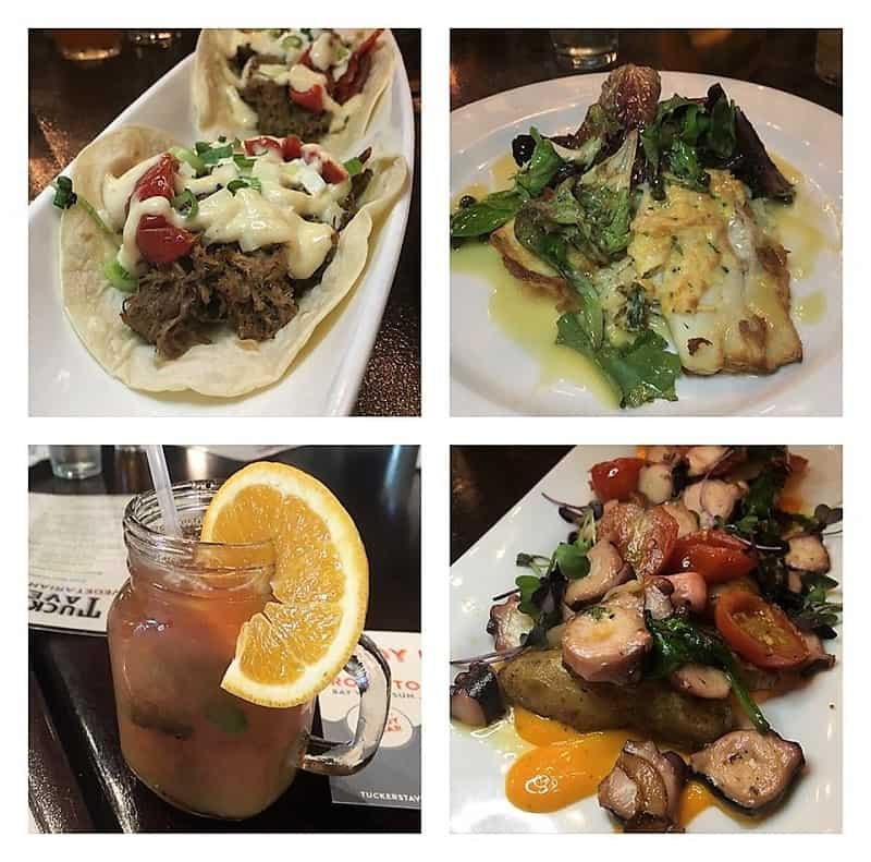 showing delicious dishes from Tuckers Inn