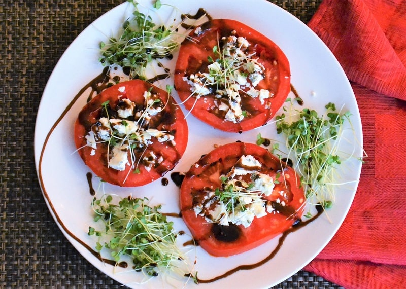 Blue Cheese Tomato recipe on a plate