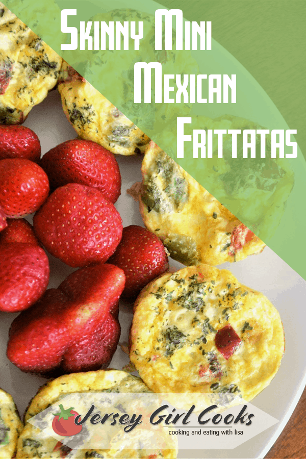 Healthy eggs breakfasts are a morning staple and these mini Mexican frittatas are a favorite. Loaded with eggs, cheese and veggies you can top these with salsa and sour cream. This baked frittata is easy to make. It only takes a few minutes of prep and these mini frittatas bake in about 20 minutes. Click here to get the Skinny Mini Mexican Frittatas recipe. #eggsforbreakfast #frittata #healthybreakfast