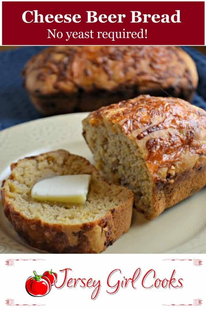 No yeast is required for this Cheese Beer Bread!