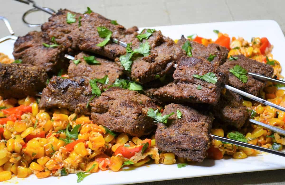 Cumin Steak Kabobs