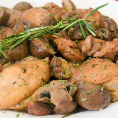 Mushroom Chicken Thighs