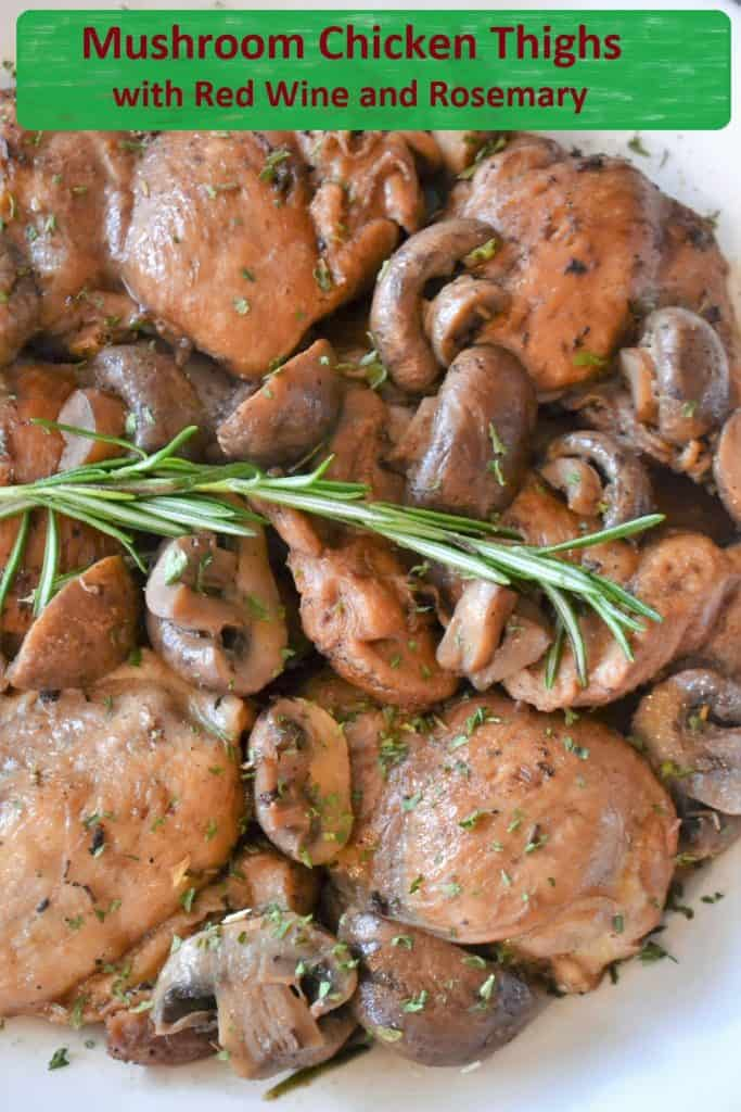 Chicken Thighs with Mushrooms and Rosemary