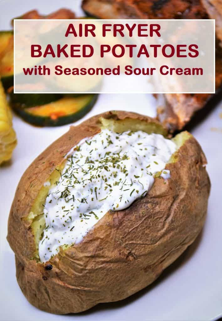air fryer baked potato with sour cream