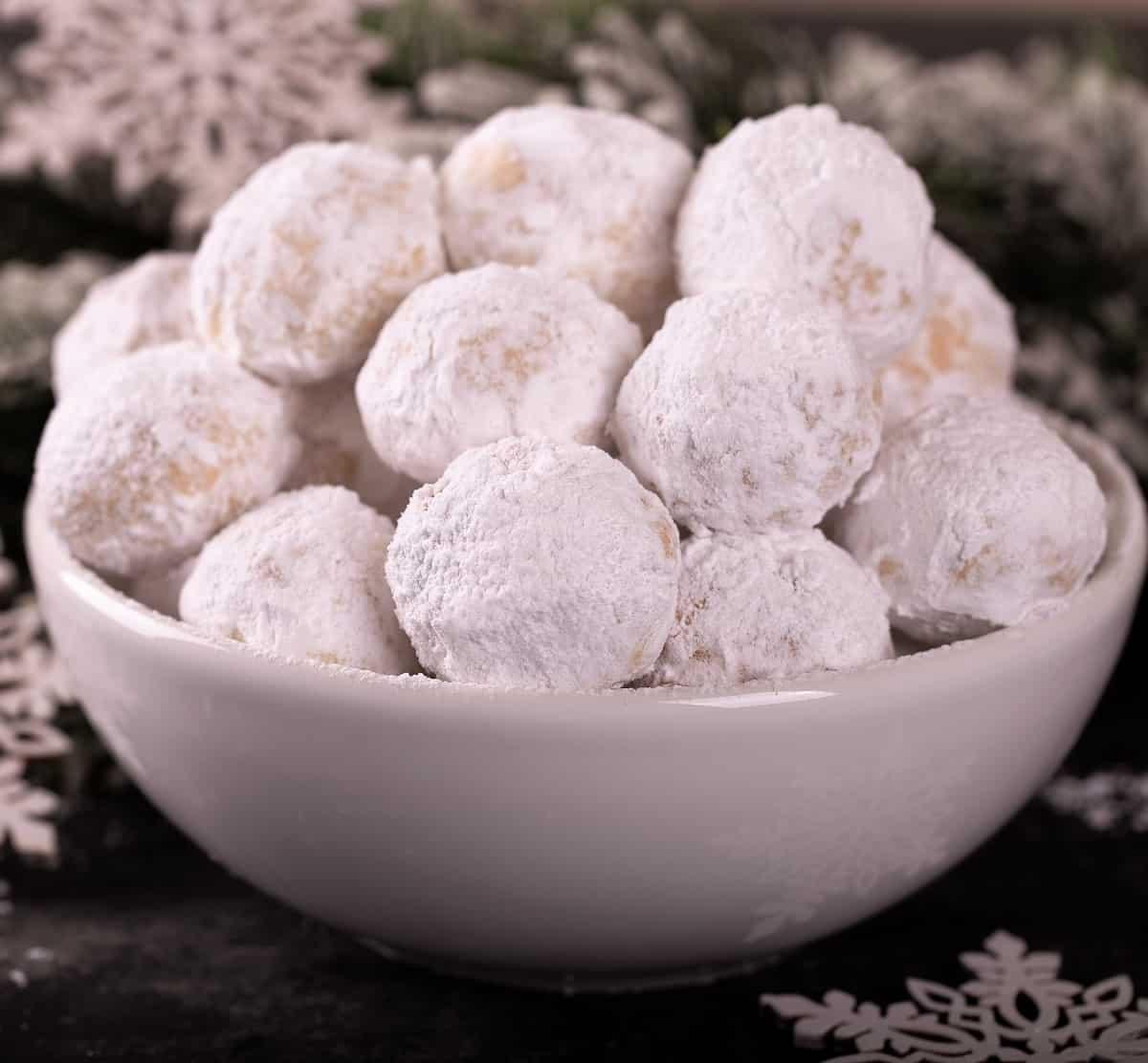 Cinnamon Snowball Cookies (Nut free)