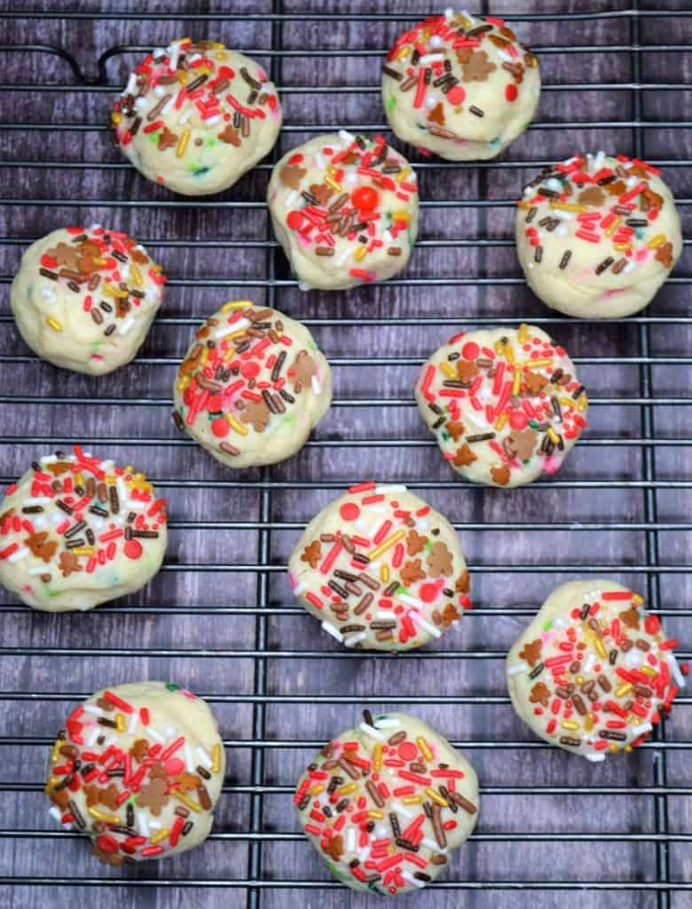 Thanksgiving cookies with sprinkles