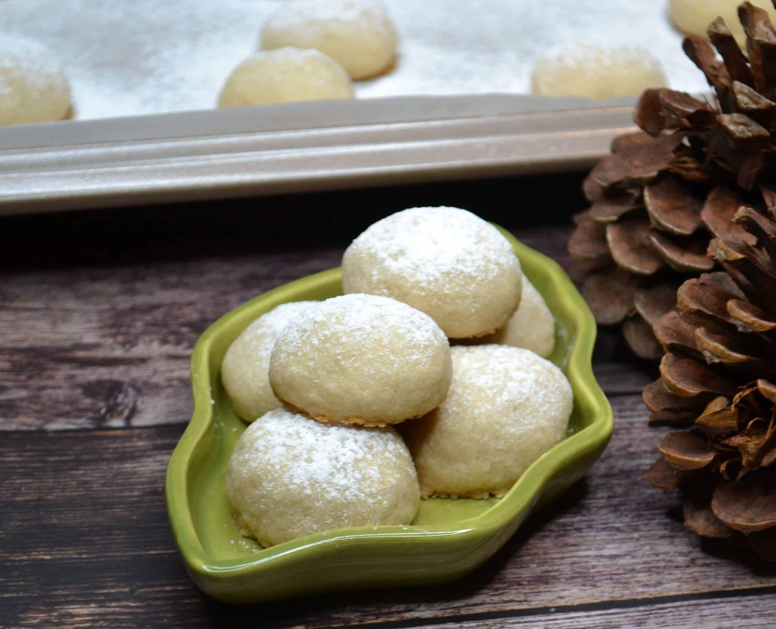 nut free cinnamon snowball cookies