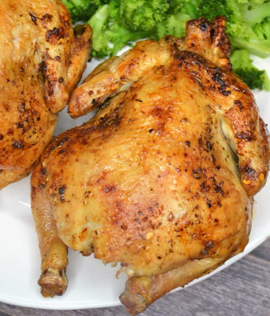 Cook Cornish Hens so they turn golden brown.