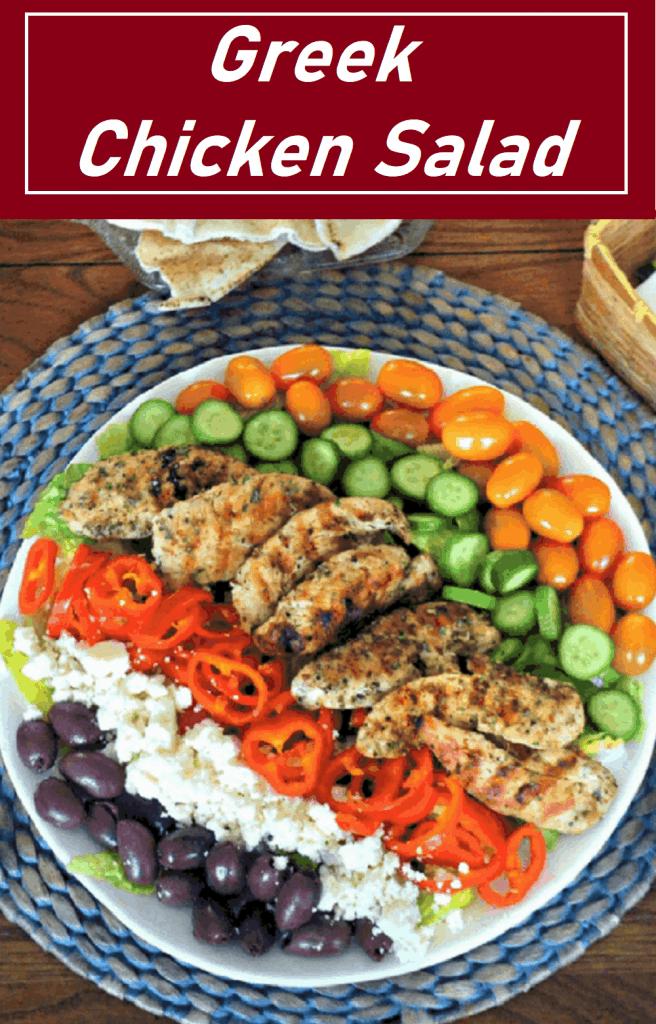 pin for Greek Chicken Salad
