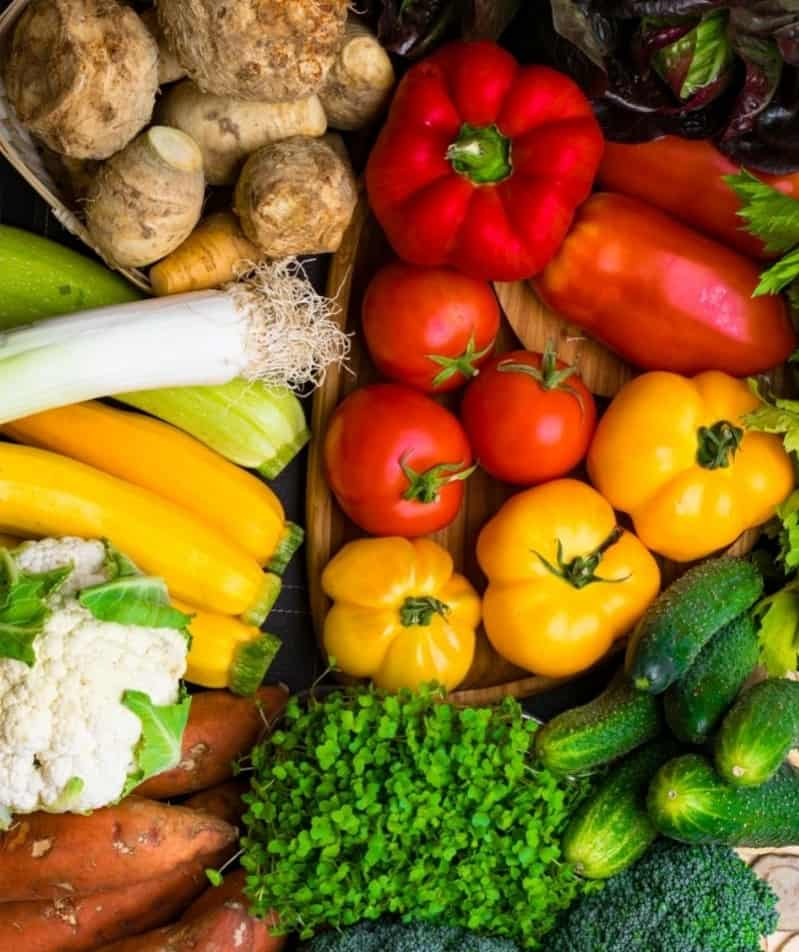 an assortment of colorful vegetables