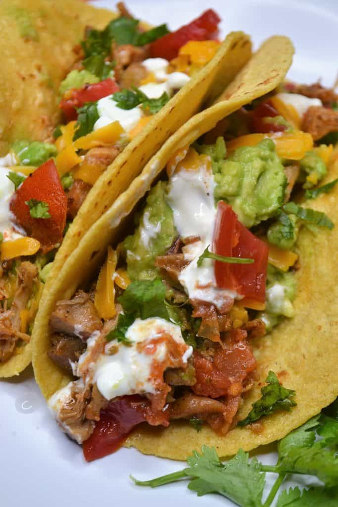 colorful Mexican chicken taco